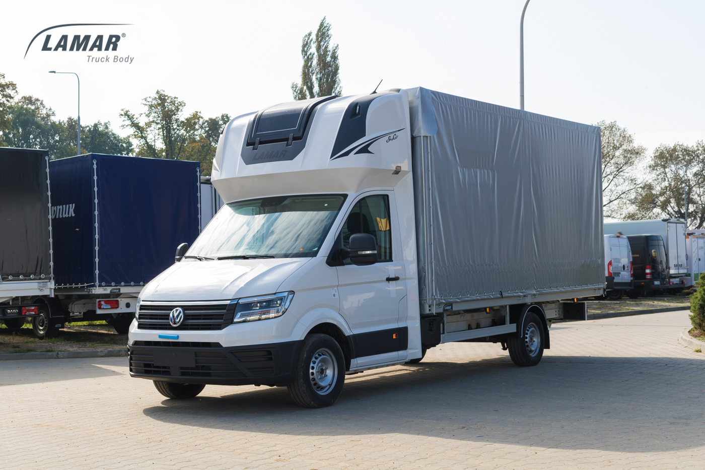 vw crafter 2017 skrzynia z plandek i kabin sypialn skycab. Black Bedroom Furniture Sets. Home Design Ideas