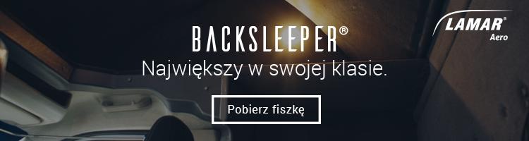 Kabina sypialna LAMAR Back Sleeper - Największa w swojej klasie