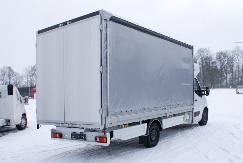 Skrzynie z plandeką drzwi aluminiowe LAMAR.com.pl