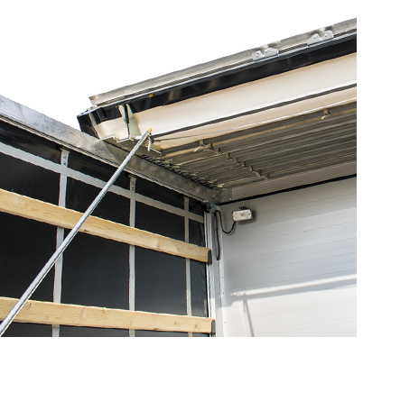 Sliding roof system LAMAR canvas and boxes