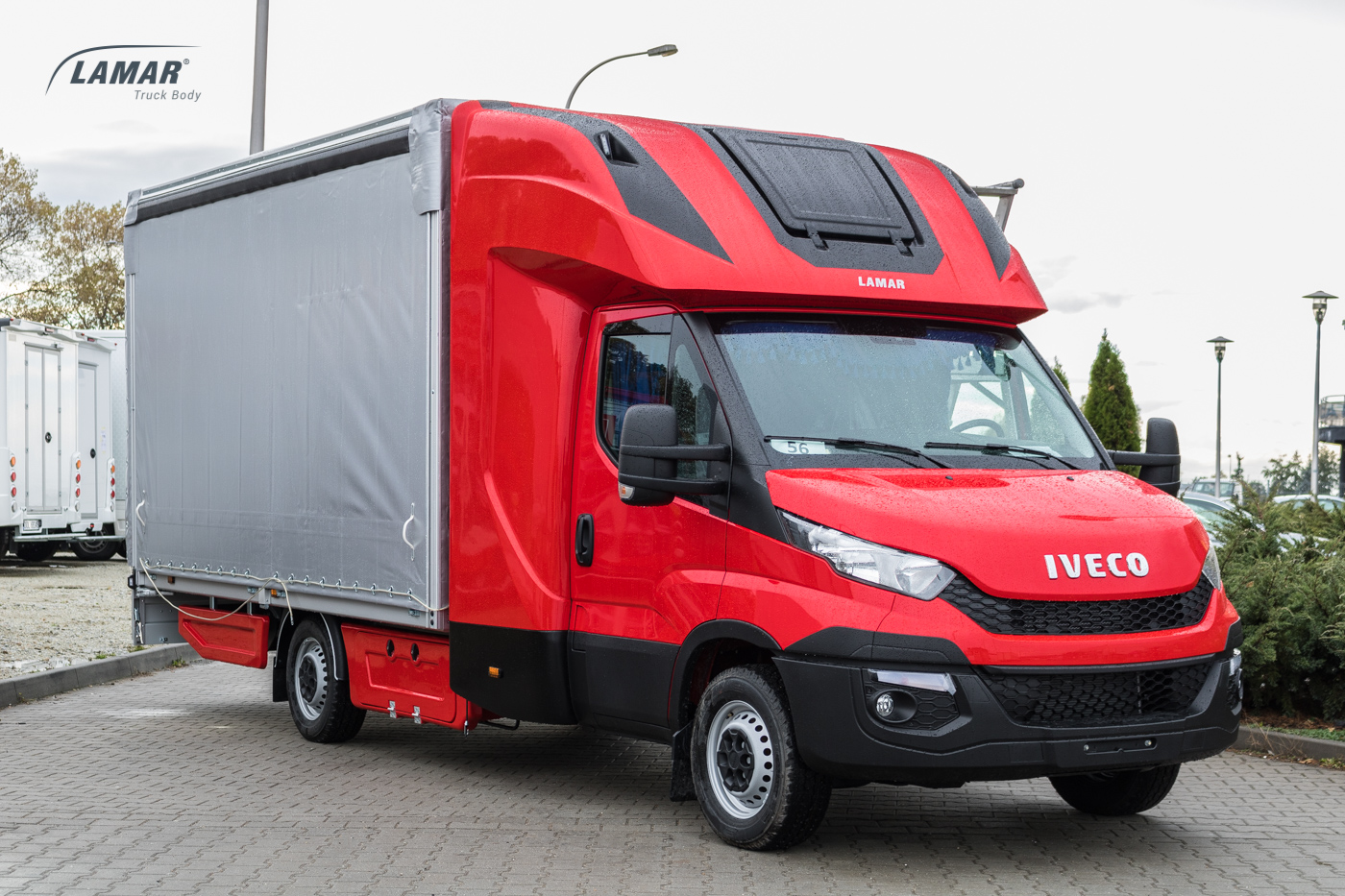 fa91806e0e Iveco Daily canvas with boxes and top sleeper Back Sleeper - Lamar